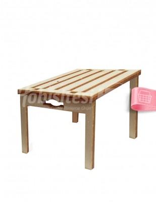 - Ahşap Bahçe Masası - 4 x 6 x 3 cm - KMY1T