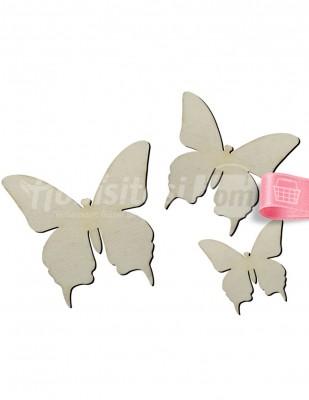 - Ahşap Kelebekler Figürü - 4 x 6 x 8 cm - O63