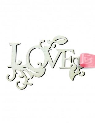 - Ahşap Love Yazısı - Süslemeli - 15 x 10 cm - KY12T