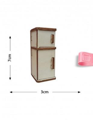 - Ahşap Minyatür - Buzdolabı - KMY32T