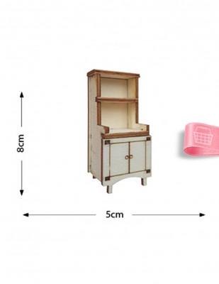 - Ahşap Minyatür - Dolap - KMY21T