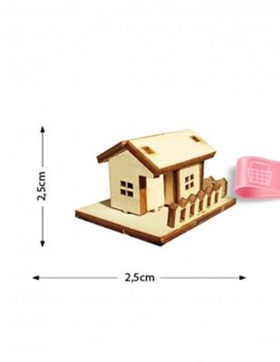 - Ahşap Minyatür - Ev - KMY44T