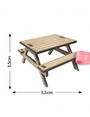 - Ahşap Minyatür - Masa - KMY51T