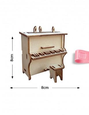 - Ahşap Minyatür - Piyano - KMY40T