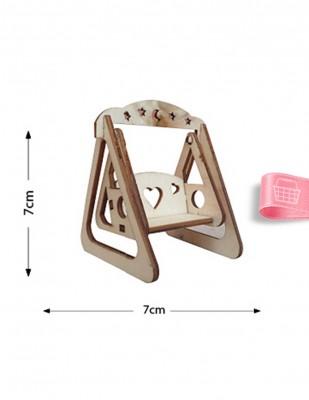 - Ahşap Minyatür - Salıncak - KMY16T