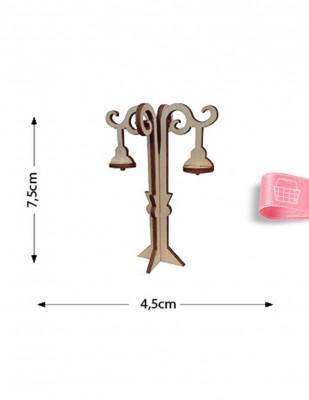 - Ahşap Minyatür - Sokak Lambası - KMY34T