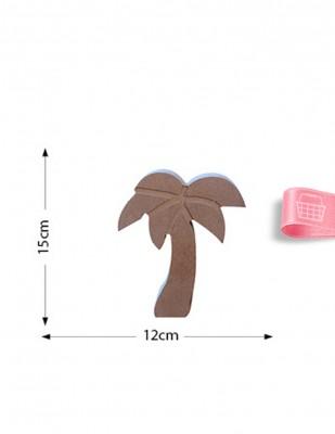 - Ahşap Palmiye Figürü - Kalınlık 18 mm - KF31T