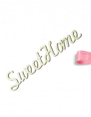 - Ahşap Sweet Home Yazısı - 18 x 4 cm - KY11T