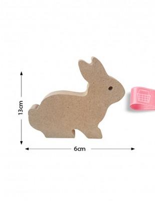 - Ahşap Tavşan Figürü - Kalınlık 18 mm - KF16T