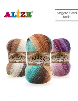 Alize - Alize Angora Gold Batik El Örgü İplikleri