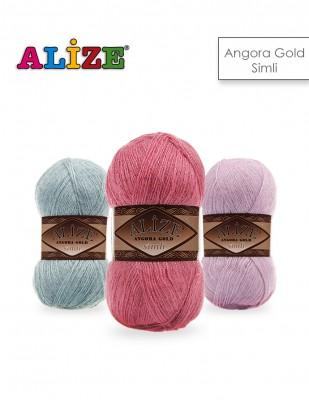 Alize - Alize Angora Gold Simli El Örgü İplikleri