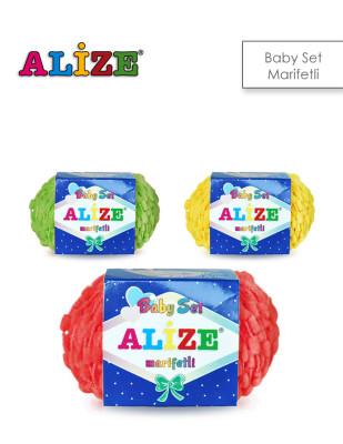 Alize - Alize Baby Set Marifetli El Örgü İplikleri