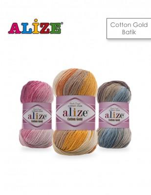 Alize - Alize Cotton Gold Batik El Örgü İplikleri