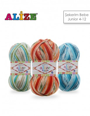 Alize - Alize Şekerim Junior 4-12 El Örgü İplikleri