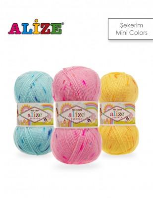 Alize - Alize Şekerim Mini Colors El Örgü İplikleri
