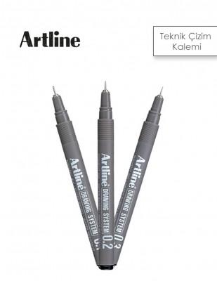 - Artline Teknik Çizim Kalemi - Siyah