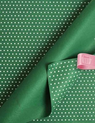 - Baskılı Keçe - Puantiyeli Koyu Yeşil/Beyaz - 1mm - 41 x 41 cm