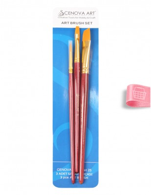 CENOVA - Cenova Fırça Seti - Set 25 - Karma 3 lü