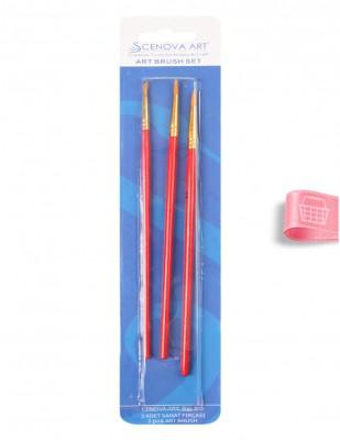 CENOVA - Cenova Fırça Seti - Set 302 - Yuvarlak Uç 3 lü