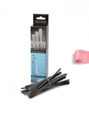 DALER ROWNEY - Daler Rowney Willow Charcoal - Çeşitli Çubuk 2 - 10 mm - 10 Adet