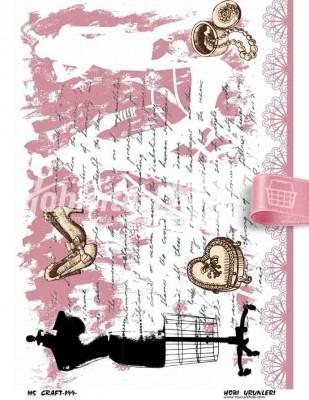 - Dekupaj Kağıdı - 35 x 45 cm Takribi - DP199