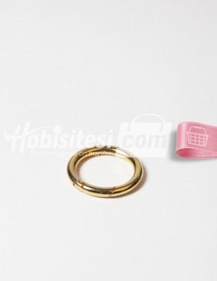- Metal Halka - Yaylı - Altın - Ç: 4 cm