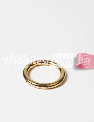 - Metal Halka - Yaylı - Altın - Ç: 5 cm