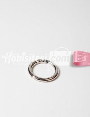 - Metal Halka - Yaylı - Gümüş - Ç: 4 cm