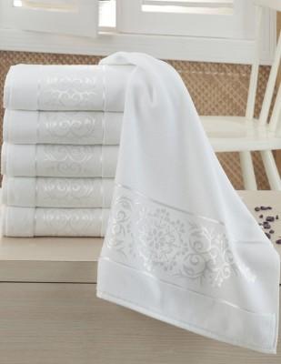 FİESTA - Fiesta İşlemelik Jakarlı Havlu - Sultan - 50 x 90 - Beyaz