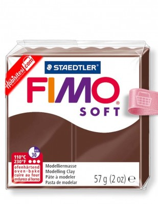 Fimo - Fimo Soft Polimer Kil - Hamur - 75 Chocolate - 57 gr