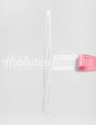 - İnci - No 4 - Beyaz - Çap 4 mm - 6 Dizi