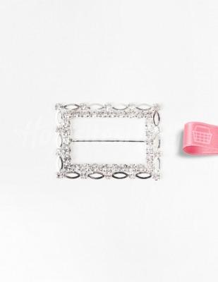 - Kemer Tokası - Taşlı - Dikdörtgen - 4 x 5,5 cm