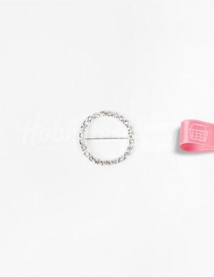 - Kemer Tokası - Taşlı - Yuvarlak - Çap 3,5 cm