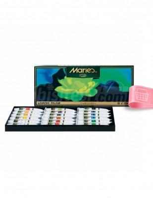 MARİES - Maries Guaj Boya Seti - Her Tüp 12 ml -18 renk