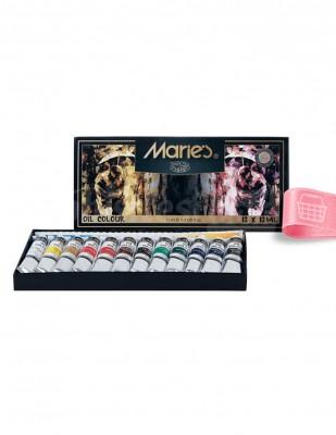 MARİES - Maries Yağlı Boya Seti - Her Tüp 12 ml -12 renk