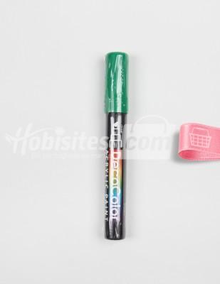 Marvy - Marvy DecoColor Acrylic Paint Marker - 4 Green
