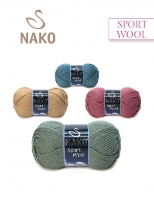 Nako - Nako Sport Wool El Örgü İpiği