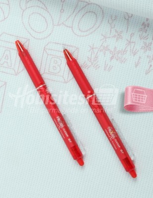 PİLOT - Pilot Frixion Silinebilir Tekstil Kalemi - Kırmızı