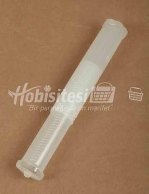 - Plastik Saklama Kabı - Çap 5 cm 24 cm 'den 40 cm 'e kadar büyüyebilen