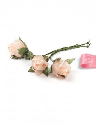 - Tespih Ucu Çiçek - Organze - Somon - 2,5 cm