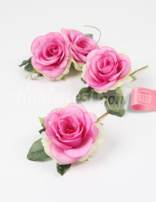 - Yapay Çiçek - Açık Fuşya - 5 cm - 4 Adet / Paket