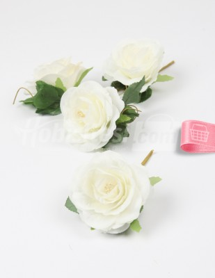 - Yapay Çiçek - Krem - 5 cm - 4 Adet / Paket