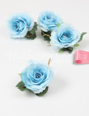 - Yapay Çiçek - Mavi - 5 cm - 4 Adet / Paket