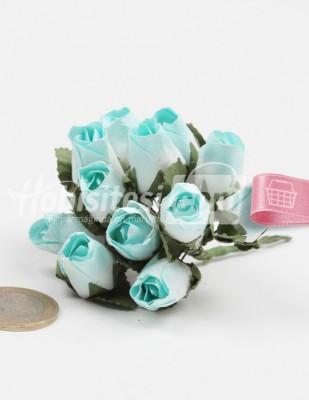 - Yapay Çiçek - Nil Yeşili - Çap 2 cm / Dal ile Uzunluk 10 - 6 Dal / Demet