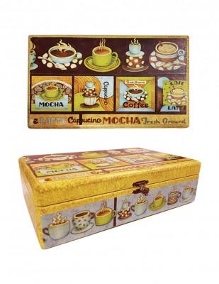 - Ahşap Bölmeli Çay Kutusu, 9 bölmeli - 30 x 18 x 5,5 cm (1)