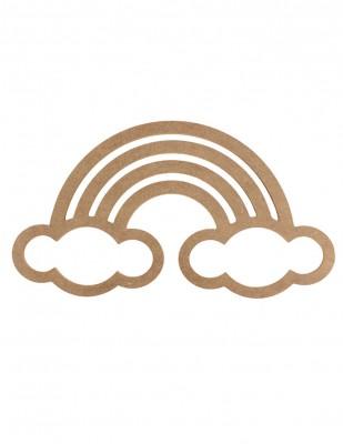 - Ahşap Bulut Figürlü Makrome Kasnağı - KD67T