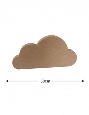 - Ahşap Büyük Bulut - Kalınlık 18 mm - KF54T