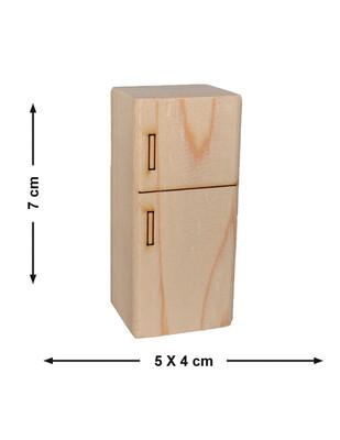- Doğal Ağaçtan Minyatür Ahşap Buzdolabı - KCG24T