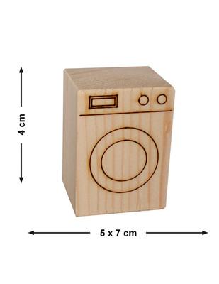 - Doğal Ağaçtan Minyatür Ahşap Çamaşır Makinesi - KCG23T