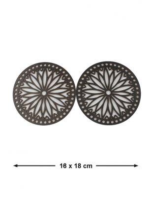 Ahşap Çanta Kenarlığı - Çap 18 cm - KTU07T